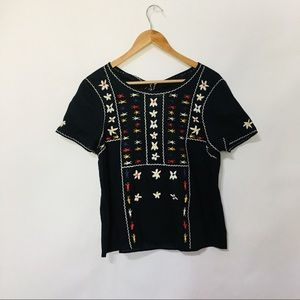 Madewell SS embroidered blouse